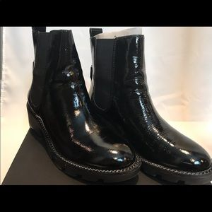 KENDALL AND KYLIE PATENT ANKLE BOOTS